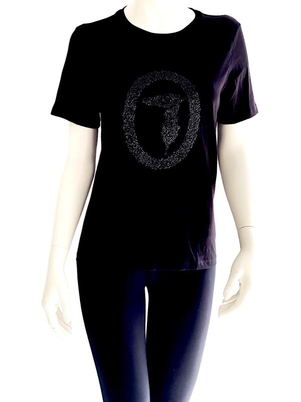 Trussardi | חולצה מעוצבת שחורה טרוסארדי