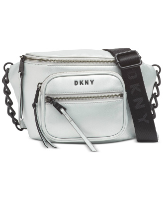 DKNY-Donna Karan | תיק פאוץ' כסוף דונה קארן
