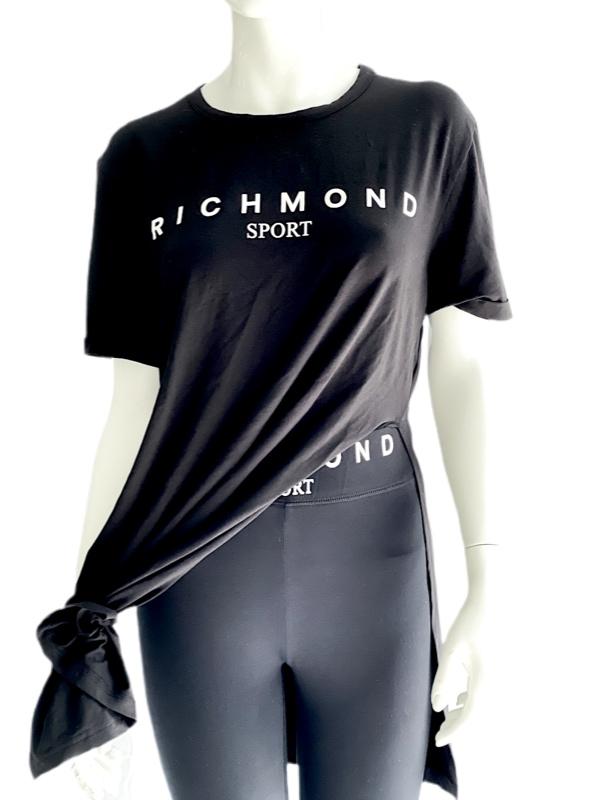 Richmond   חולצת שסעים שחור/לבן ריצ'מונד