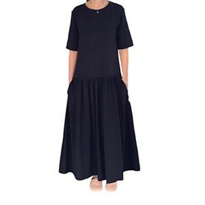 שמלת אוברסייז שחורה מקס מארה