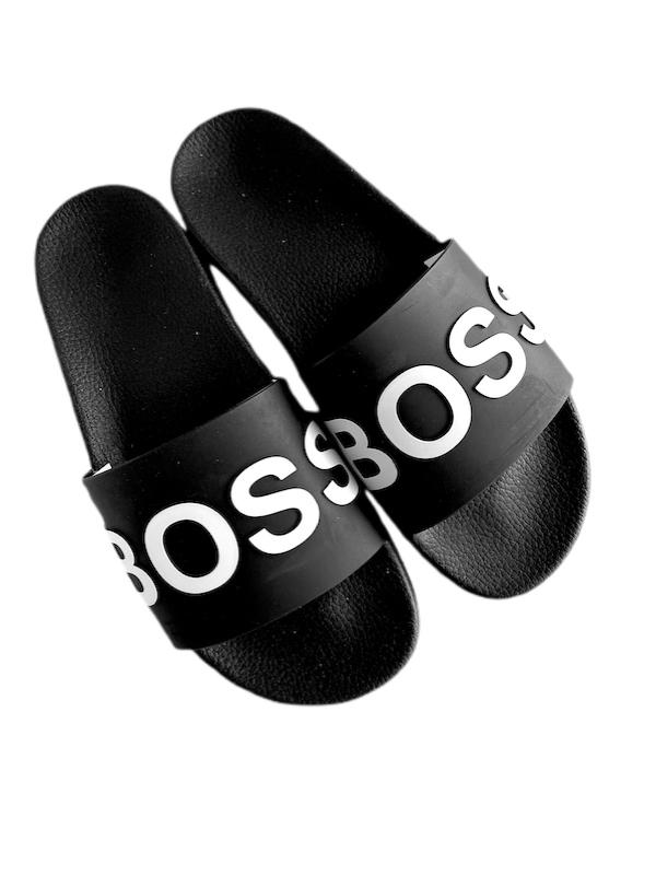Hugo Boss | כפכפי סלייד שחורים הוגו בוס