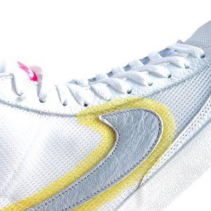 Nike | סניקרס גבוהות בלייזר לבן/צהוב נייק