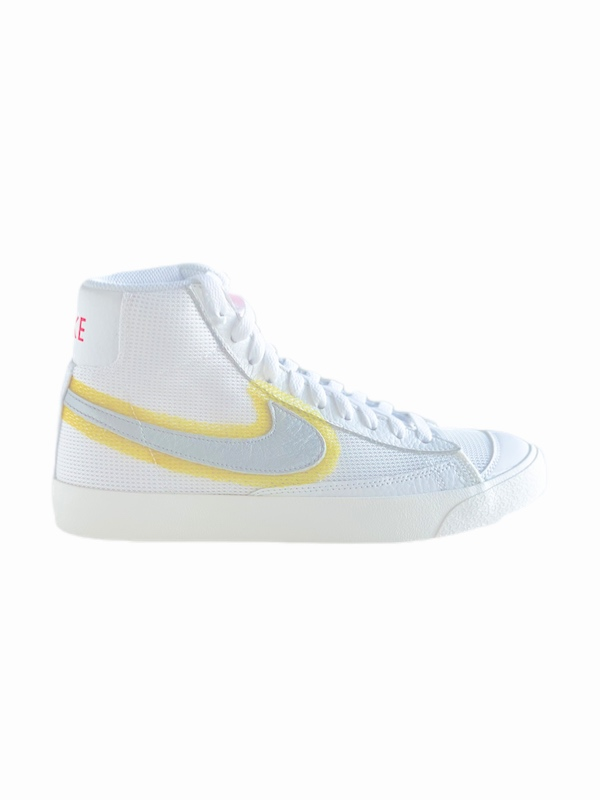 Nike   סניקרס גבוהות בלייזר לבן/צהוב נייק