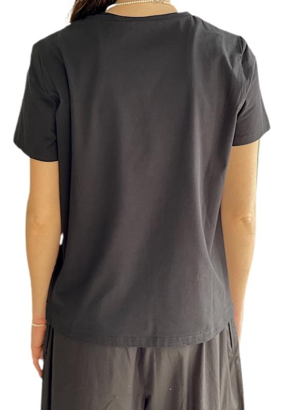 Max Mara | חולצת פשתן שחורה מקס מארה