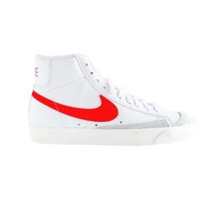 Nike | סניקרס גבוהות בלייזר לבן/אדום נייק