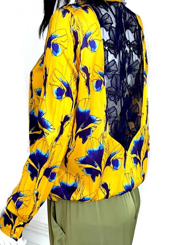 Cacharel   חולצת משי יוקרתית קאשרל