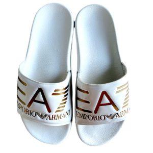Emporio Armani | כפכפי סלייד לבנים אימפוריו ארמני