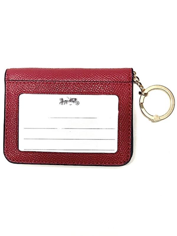 Coach   ארנק כרטיסי אשראי אדום קואץ