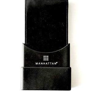 Manhattan | ארנק עור שחור לגבר מנהטן