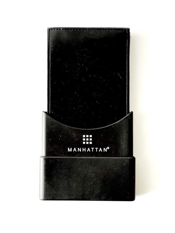 Manhattan   ארנק עור שחור לגבר מנהטן