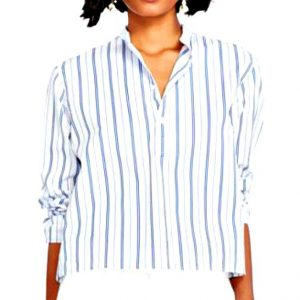 Ralph Lauren | חולצת פסים רחבה ראלף לורן