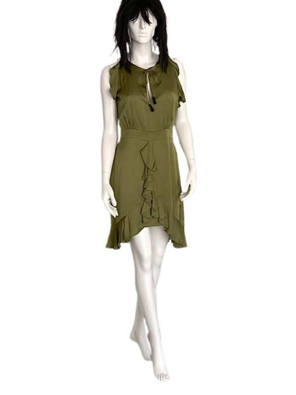 Just Cavalli   שמלה יוקרתית זית ג'אסט קוואלי
