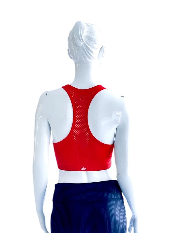 Alo Yoga | חולצה אדומה אופנתית אלו יוגה