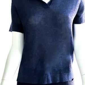 Biancoghiaccio | חולצה כחולה סרוגה ביאנקוג'אצ'יו