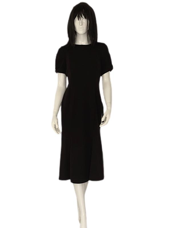 Calvin Klein | שמלה שחורה שרוול פפיון קלוין קליין