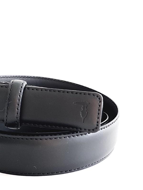 Trussardi | חגורת עור שחורה טרוסארדי