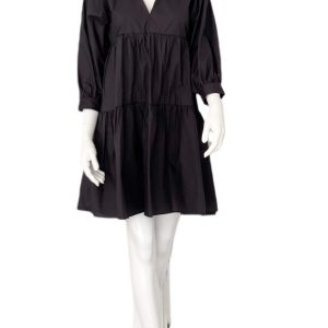 Biancoghiaccio | שמלה פעמון שחורה ביאנקוג'אצ'יו