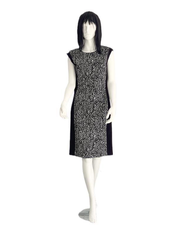 Vince Camuto | שמלה שחור/לבן אלגנטית וינס קמוטו