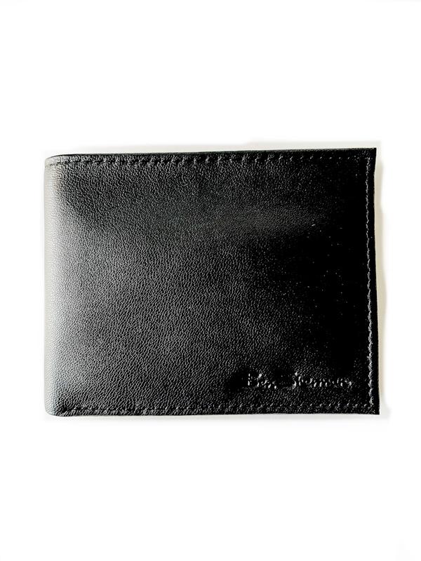 Ben Sherman   ארנק עור שחור לגבר בן שרמן