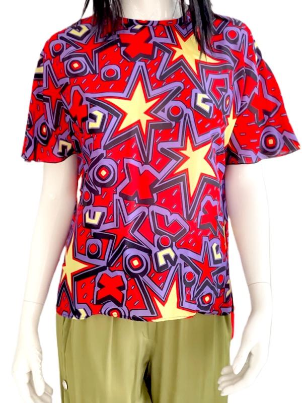 Missoni   חולצת זיגזג אדומה מיסוני