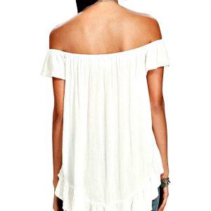 Ralph Lauren | חולצת סטרפלס אופוויט ראלף לורן