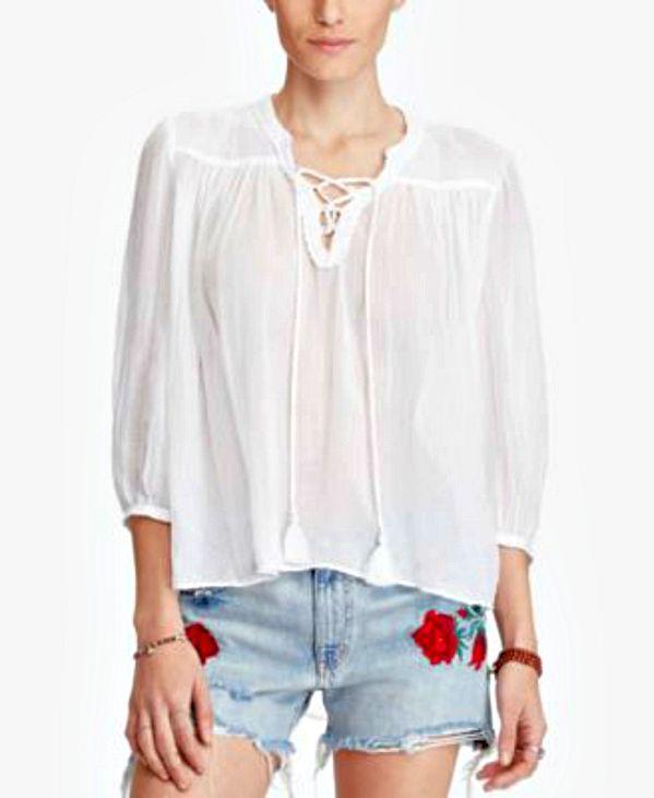 Ralph Lauren | חולצת קוטון פיזנט ראלף לורן