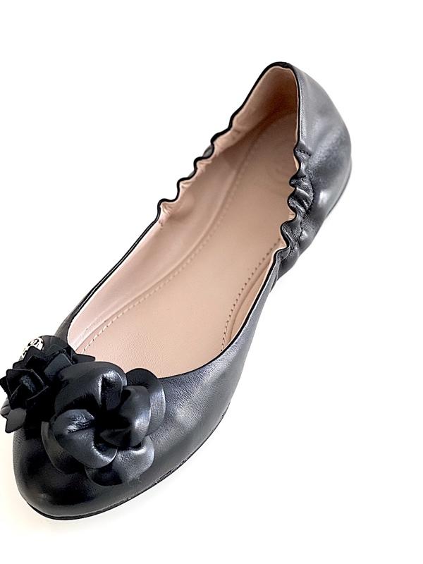 Tory Burch | נעלי בובה שחורות טורי ברץ׳