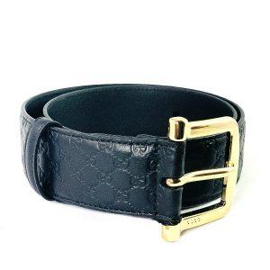 Gucci | חגורת עור לוגו שחורה גוצ'י
