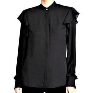 Ralph Lauren | חולצה שחורה אלגנטית ראלף לורן