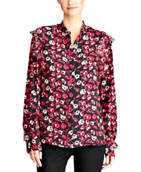 Ralph Lauren | חולצת שיפון פרחונית ראלף לורן