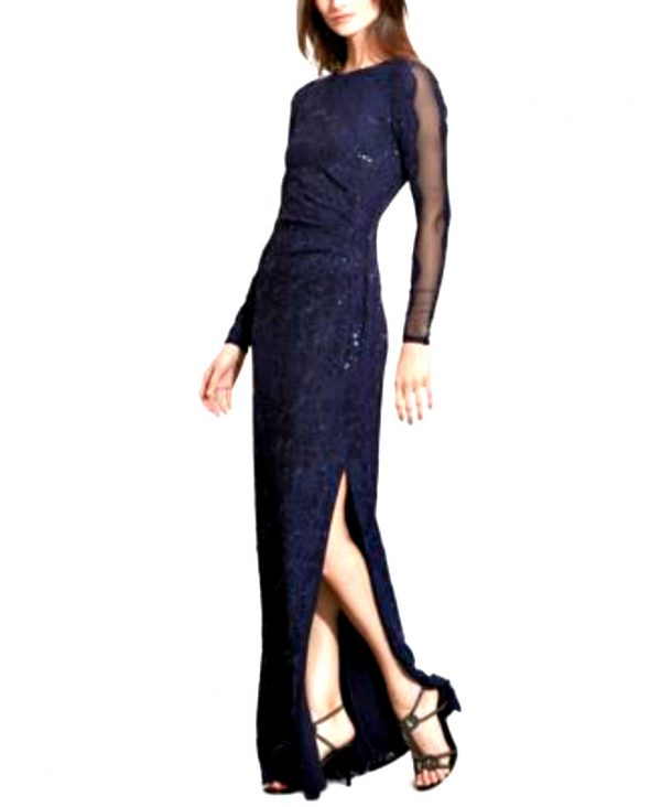 Ralph Lauren   שמלה תחרה מקסי ראלף לורן