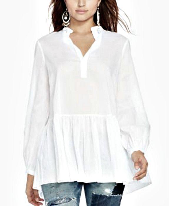 Ralph Lauren | חולצת אוברסייז לבנה ראלף לורן
