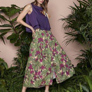 Biancoghiaccio | חצאית ארוכה פנטזיה ביאנקוג'אצ'יו