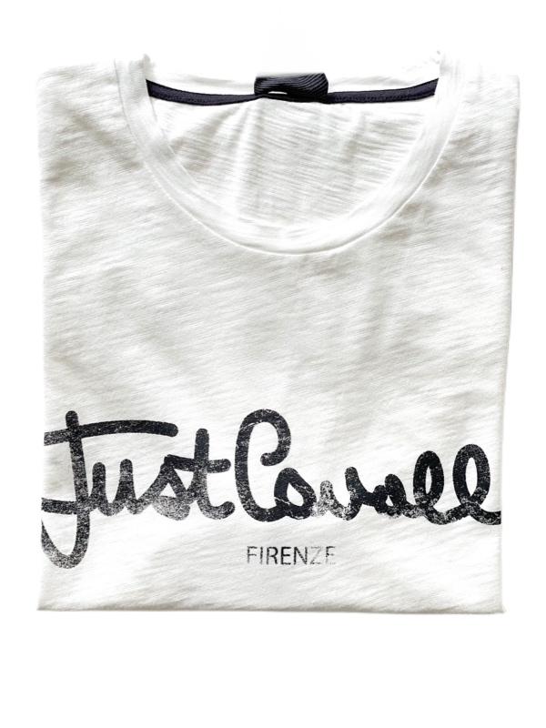 Just Cavalli   חולצת טי שירט לבנה ג'אסט קאבלי
