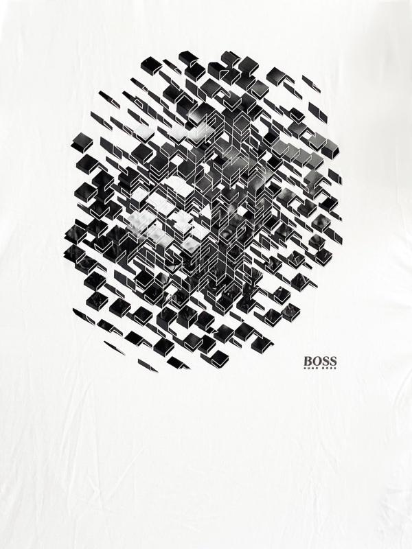 Hugo Boss   חולצת טי שירט לבן הוגו בוס