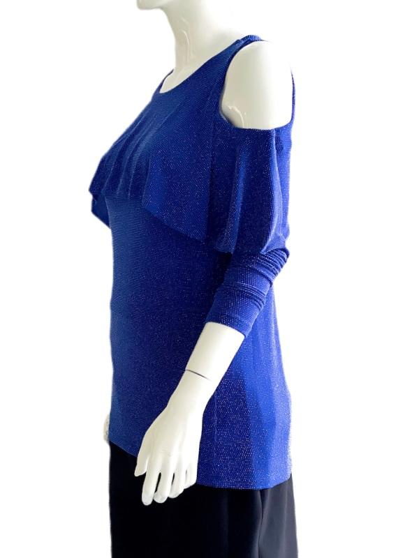 Michael Kors | חולצה נוצצת כחולה מיקל קורס
