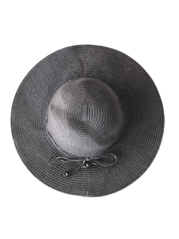 August Hat | כובע קש שחור פפיון דק אוגוסט הט
