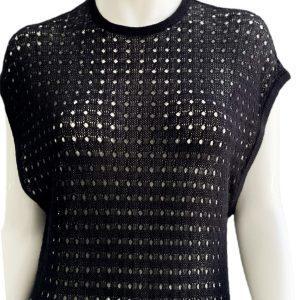 DKNY-Donna Karan | שמלת מקסי רשת שחורה דונה קארן