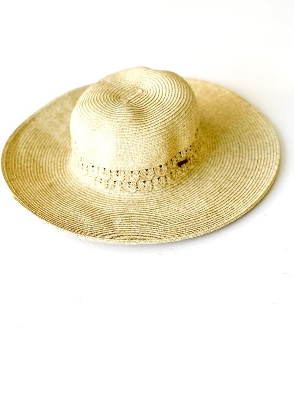 Nine West   כובע קש רחב שוליים פק ניין ווסט
