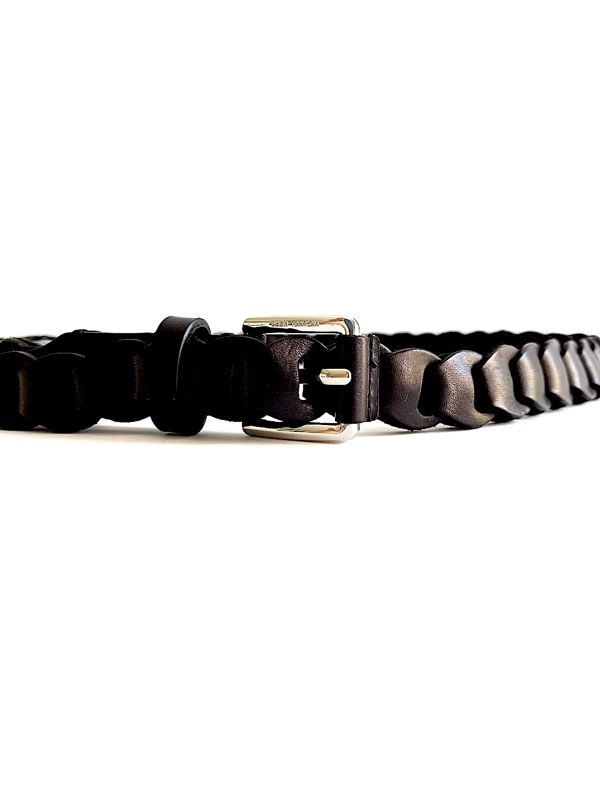 Michael Kors   חגורת לולאות שחורה מיקל קורס