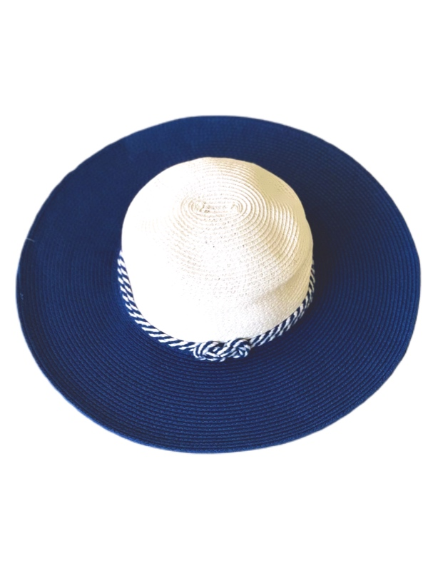 August Hat   כובע כחול/לבן אוגוסט הט