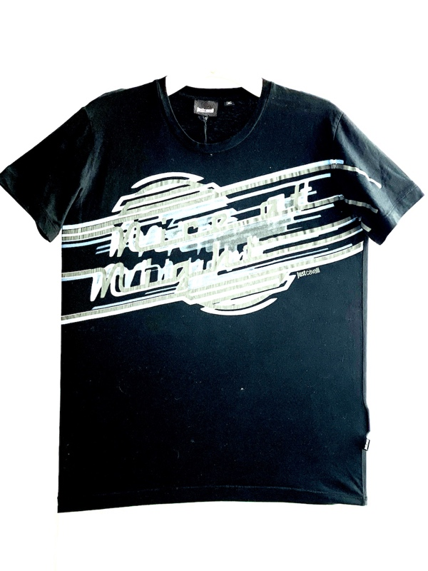 Just Cavalli | חולצת טי שירט שחורה ג'אסט קאבלי