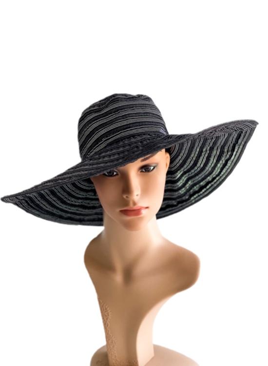 August Hat | כובע שחור/כסוף רחב שוליים אוגוסט הט