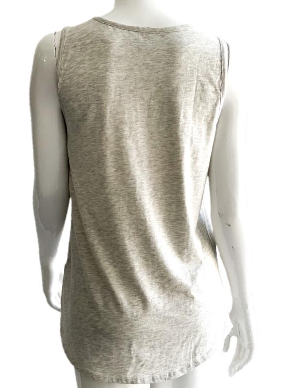 Calvin Klein   חולצת לוגו אפורה קלווין קליין