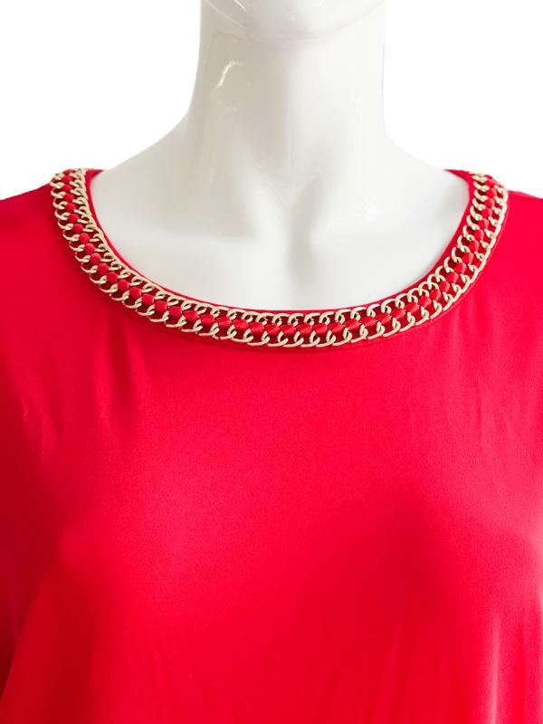 Calvin Klein | חולצת שרשרת אדומה קלוין קליין