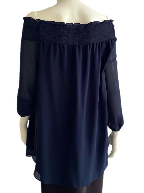 Michael Kors   חולצת סטרפלס כחולה מיקל קורס