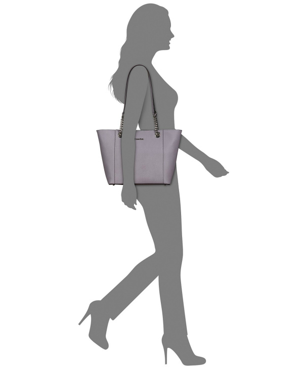 Calvin Klein | תיק לוגו חום שרשרת קלוין קליין