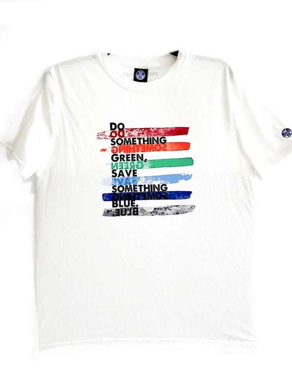 North Sails   חולצת טי שירט לבנה נורס סיילס