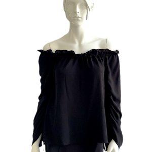 Vince Camuto | חולצת סטרפלס שחורה וינס קמוטו
