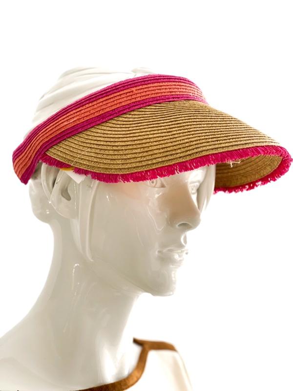 August Hat | מצחיית קש ורוד אוגוסט הט